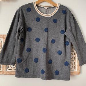 GAP Polka Dot Beaded Sweatshirt
